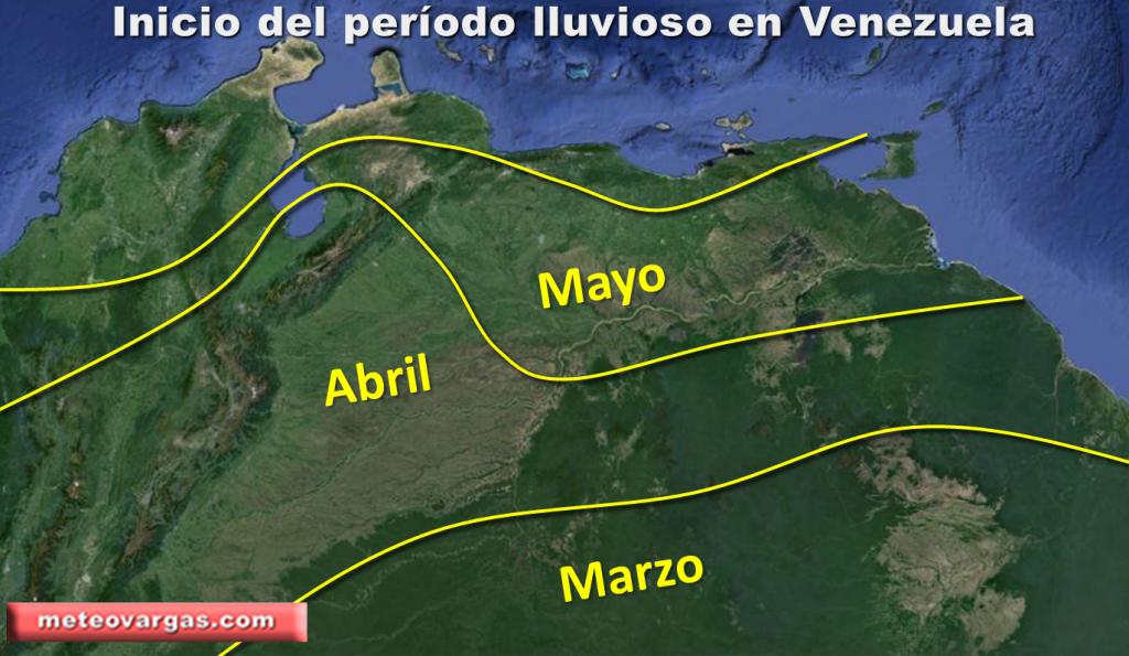 Período lluvioso en Venezuela